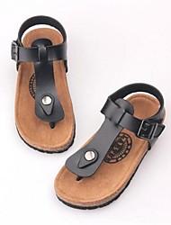 Mädchen Sandalen Sommer Sandalen PU-Außen flache Ferse Niet schwarz / pink / rot / weiß / schwarz und weiß andere