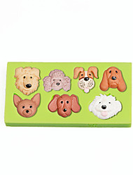 Pet Puppy Dog Face Silicone Molds Fondant Cake Decoration Sugarcraft Tools Polymer Clay Fimo Chocolate Candy Soap Making