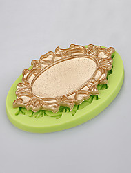 Mirror shape cake decorating silicone mold handmade soap mold kitchen bakeware