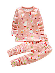 Girl's Casual/Daily Print SleepwearCotton Winter Red