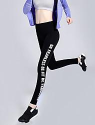 Women's Running Tights Yoga Fitness  Running Sweat-wicking Compression  Lightweight Materials Gray  Black