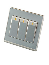 Three Open Double Control Wall Switch