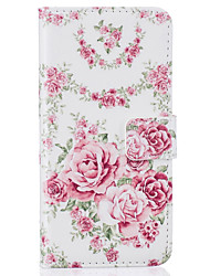 Card Holder Wallet Pattern Pink roses PU Leather Hard Case For iPhone 7 7 Plus 6s 6 Plus SE 5s 5