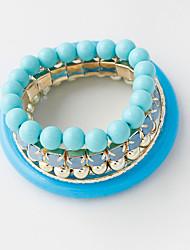 Bracelet/Strand Bracelets Alloy / Acrylic Circle Fashionable / Bohemia Style / Casual Jewelry GiftLight Blue /
