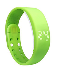 Show Time Temperature Monitoring Seismic Waterproof Sports Bracelet Running Pedometer