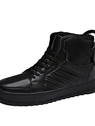 Men's Shoes EU39-45 Casual/Party/Student Microfiber for Sports And Leisure Fashion Medium cut Board High Top Shoes