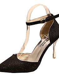 Damen High Heels Stretch - Satin Sommer Normal Schnalle Stöckelabsatz Weiß Schwarz Purpur Golden 7,5 - 9,5 cm