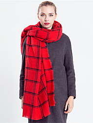 Winter Warm Women Vintage Casual Black And Red Plaid  Stitching Color Plaid Cashmere Wool Tassel Scarves England Scarf