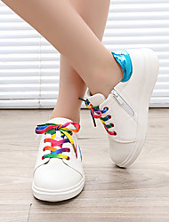 Unisex Sneakers Spring / Summer / Fall Flats PU Casual Flat Heel Black / Pink / White Sneaker