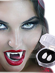 19MM Halloween Film And Television Props The Vampire Teeth Cosplay Props Gothic Vampire Zombie Tooth& Denture Glue