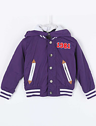 Girl's Casual/Daily Solid BlouseCotton Fall Purple