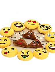 Nouveaux Jouets / Porte-clés Circulaire / Emoji Adorable Porte-clés Jaune Tissu