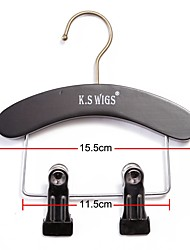 Neitsi 1PCS Black Wooden Hair Extension Hanger for Virgin&Remy Hair and Clip in Hair Extension