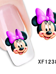 Cute Mickey Cartoon Watermark Pattern Nail Stickers
