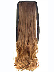 22'' (55CM) Women Long Wave Curly Synthetic Hair Ponytail Ombre Ribbon Pony Tail Hair Extensions Hair Piece8T27
