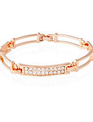 Bracelet/Cuff Bracelets Alloy / Rhinestone Rectangle Fashionable / Inspirational Daily / Casual Jewelry Gift Gold1pc