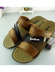 Men's Sandals Summer Sandals PVC Outdoor Flat Heel Others Brown / Tan Walking / Water Shoes