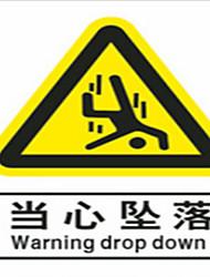cuidado de cair placa pvc cuidado aviso fábrica de sinais de aviso de segurança inspecções por pacote de cinco para comprar um pacote de