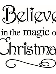 Magic Will Happen Inspiration Quote Wall Sticker Decal Home Decor Wallpaper Wall Mural Believe In The Magic Of Christmas