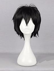 35cm Cospaly nero parrucca maschio taglio di capelli capelli corti a strati Isogai yuuma parrucca toshiro anime kagerou progetto Hijikata