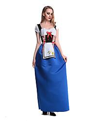 Costumes Plus de costumes Halloween / Fête d'Octobre Bleu Mosaïque Térylène Robe / Plus d'accessoires