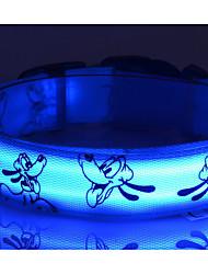 Cães Colarinho / Trelas Luzes LED / Retratável / Baterias incluídas / Estroboscópio / Bonitinho e fofinho / Design de Desenho-Animado