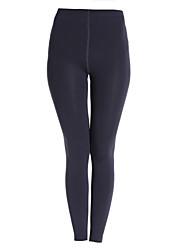 sólido negro / vino / bodycon gris de las mujeres que adelgaza leggings elásticos