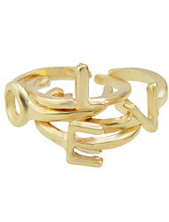 Anéis Fashion Pesta / Diário Jóias Liga Feminino Anéis unha 1conjunto,7 / 8 / Tamanho Único Dourado