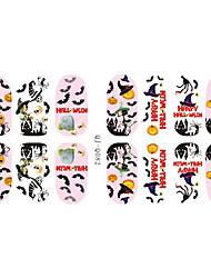 14Pcs/Sheet Nail Sticker Art Autocollants 3D pour ongles Bande dessinée / Adorable Maquillage cosmétique Nail Art Design