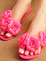 Women's Slippers & Flip-Flops Summer Flip Flops / Open Toe PVC Casual Flat Heel Flower Others