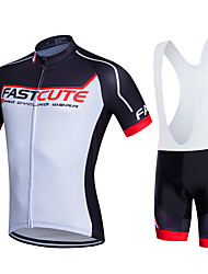 Fastcute Cycling Jersey with Bib Shorts Men's Women's Kid's Unisex Short Sleeves Bike Bib Shorts Bib Tights Sweatshirt Jersey Clothing