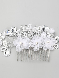 Women's Rhinestone / Alloy / Imitation Pearl Headpiece-Wedding / Special Occasion Hair Combs 1 Piece