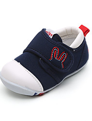 Unisex Flats Spring Fall Comfort Canvas Casual Flat Heel Others Hook & Loop Blue Pink Red Others