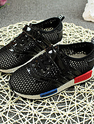 Boy's Sneakers Summer Microfibre Casual Flat Heel Magic Tape Black