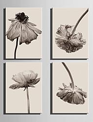 Botanisch Leinwand drucken Vier Panele Fertig zum Aufhängen , Vertikal
