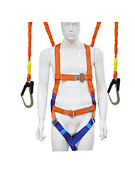 High Altitude Operations Against Falling Orange 5 Point Safety Belt