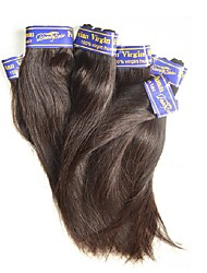 unprocessed 7a peruvian virgin hair straight 500g 10pieces lot real 100% peruvian human hair weaves color black