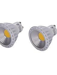 6 GU10 Точечное LED освещение MR16 1 COB 450 lm Тёплый белый / Холодный белый Декоративная AC 85-265 / AC 220-240 / AC 110-130 V 2 шт.