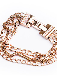 Classic High Quality Titanium Steel Multi-Layer Twist Link Chain Bracelets Christmas Gifts