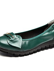 Women's Flats Fall Flats Leather Outdoor Flat Heel Rivet Black Green Others