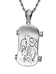 Муж. Ожерелья с подвесками Нержавеющая сталь Хип-хоп Серебряный Бижутерия Повседневные 1шт