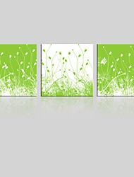 JAMMORY Canvas Set Landscape ,Three Panels Gallery Wrapped, Ready To Hang Vertical Print No Frame Green Meadow