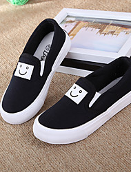 Girl's Sneakers Spring / Fall Flats Rubber Outdoor Flat Heel Others Black / White Sneaker