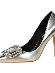 Women's Heels Winter Comfort Dress Stiletto Heel Buckle Black / Brown / Red / Silver / Gold / Champagne Walking