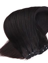 neitsi 18 '' девственные Малазийские прямые волосы утки натуральный черный 1b # дешевые пучки человеческие волосы Remy ткать расчесывания
