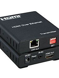 HDMI Over Ethernet HDMI Extender 120meter over One RJ45 Cat5/6 Cable More to More HDMI Extender Matrix 1080P with IR