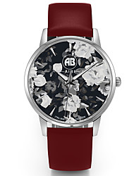 AIBI® Men's Fashion Watch Water Resistant/Water Proof Charles Florida Flower Brown Wrist Watch For Men Cool Watch Brown Unique Watch With Watch Box