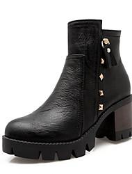 Feminino-Botas-Saltos / Plataforma / Botas de Cowboy / Botas de Neve / Botas Cano Curto / Arrendondado / Botas Montaria / Botas da Moda /
