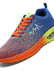 Unisex Running Athletic Shoes Spring / Fall Comfort PU / Tulle Outdoor / Athletic / Casual Blue / Yellow / OrangeWalking /