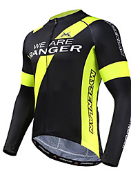 MYSENLAN® Cycling Jersey Men's Long Sleeve Bike Breathable Jersey / Tops Polyester / Terylene Characters Spring / Summer / Fall/Autumn